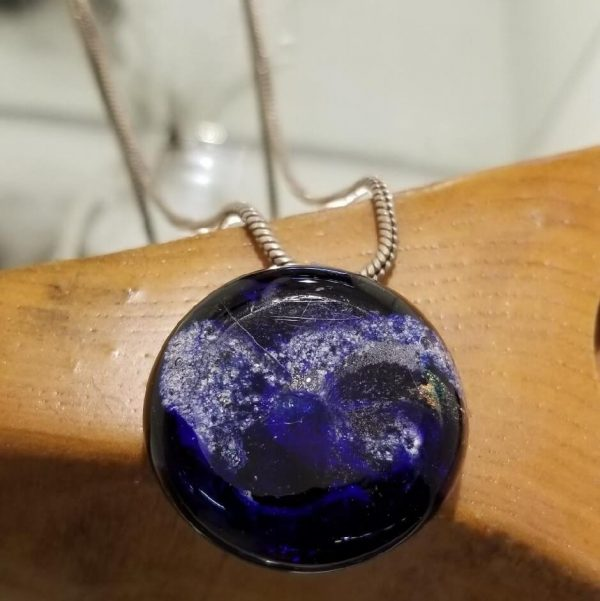 blue memorial wearable pendant necklace