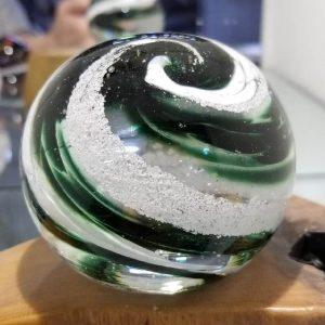 emerald round memorial paperweight